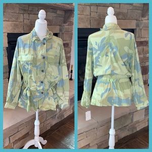 FP Lime Green Camo Lightweight Jacket Size S